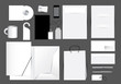 Blank stationery design set