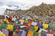 Gebetsfahnen auf dem Khardung La Pass in Ladakh