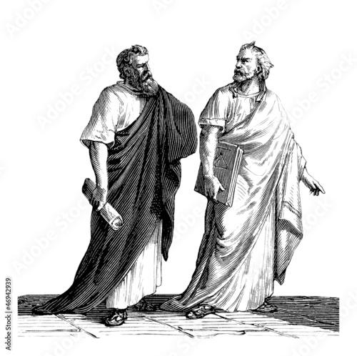 Leinwanddruck Bild Greek Philosophers - Antiquity
