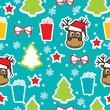 Seamless winter pattern, Christmas