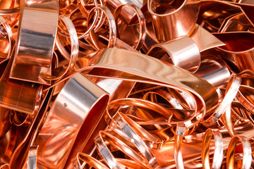 Scrapheap of copper foil (sheet)