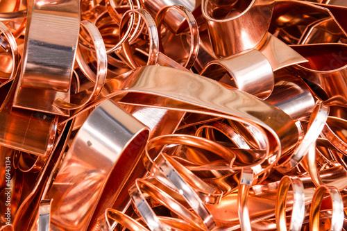 Leinwandbild Motiv Scrapheap of copper foil (sheet)
