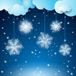 Snowflakes fantasy background