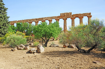 Valley of the Temples. Agrigento. Sicily.