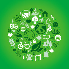 Vector green ecology concept