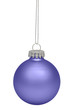 Purple christmas bauble isolated on white background