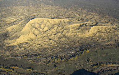 aerial sand dune