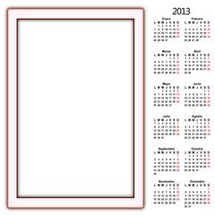 calendario meses año 2013