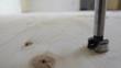 Drilling knots in wooden floor