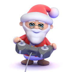 Santa plays a videogame