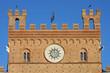 Il palazzo pubblico in the piazza del campo, Siena - Italy, deta