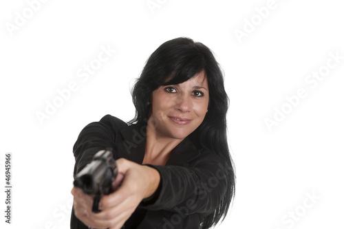 pistol woman