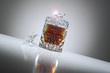 Elegant crystal whiskey decanter
