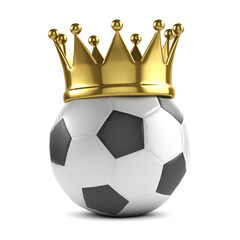 Gold crown soccer ball