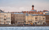City ​​skyline on Neva river in St.Petersburg, Russia