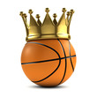 Basketball gold crown
