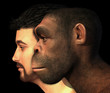 Modern Human and Homo Erectus Man Compared