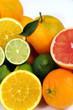 Lime,pompelmo rosa,arance e mandarino
