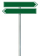 Right left road route direction pointer this way sign, green