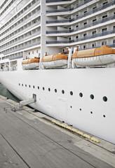 Stationary cruise ship