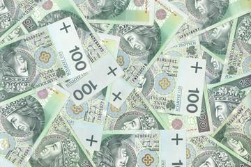 polish banknotes, money background