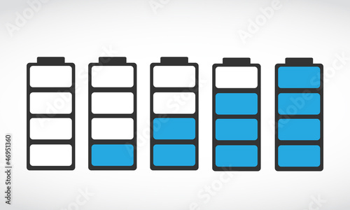 battery level indicator set illustration