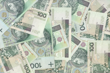 polish banknotes, money background
