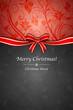 Menù Natale rosso nero con fiocco - 46951980