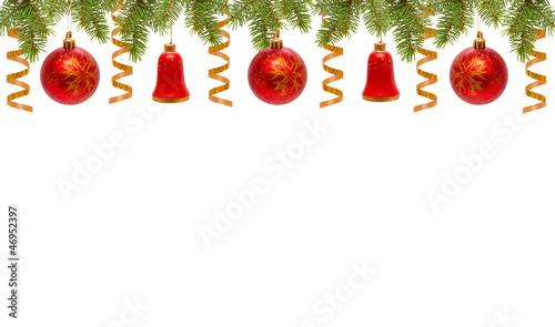 weihnachten dekoration rote weihnachtskugeln und glocken. Black Bedroom Furniture Sets. Home Design Ideas