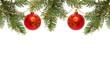 Rote Weihnachtskugeln .Weihnachten Dekoration.