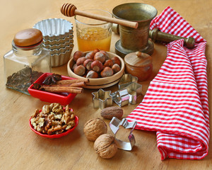 Nuts for baking on winter holidays