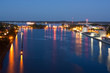 Schleusen des Nord-Ostsee-Kanals in Kiel bei Nacht