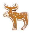 Gingerbread cariboo over white background