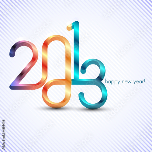 new year 2013 illustration with infinity symbol