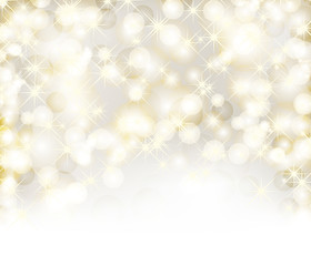 Christmas background with lights, snowflakes and place for text
