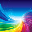 Abstract rainbow colors wave background. - 46956546
