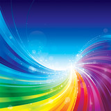 Fototapety Abstract rainbow colors wave background.