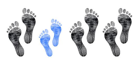 row of footprints
