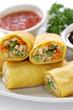 homemade egg rolls, vegetarian food