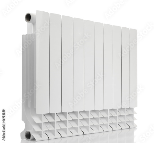 Radiator on white background