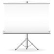 blank portable projection screen illustration