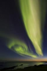 Aurora Boreal al norte de Islandia
