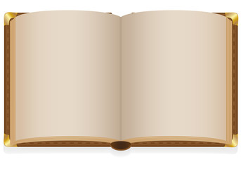 old open book with blank sheets illustration