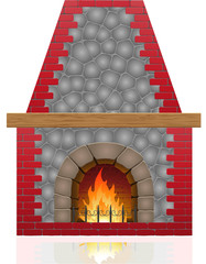 fireplace illustration