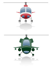 set icons helicopter illustration