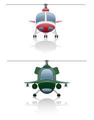 set icons helicopter illustration