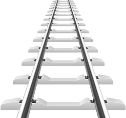 rails with concrete sleepers illustration