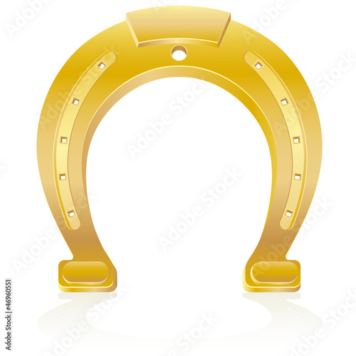 gold horseshoe talisman charm illustration