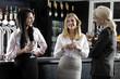 Women enjoying a glass of wine