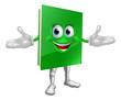 Happy cartoon book man